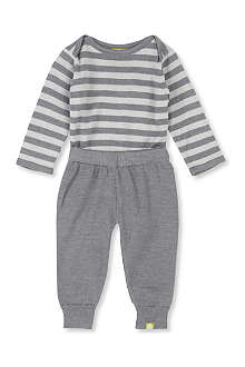 NUI Silk-blend bodysuit and leggings set 0-24 months