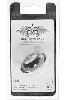 ROCK STAR BABY Tattoo pacifier