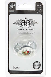 ROCK STAR BABY Heart and wings pacifier