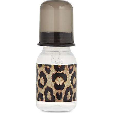 ROCK STAR BABY Leopard baby bottle (Black