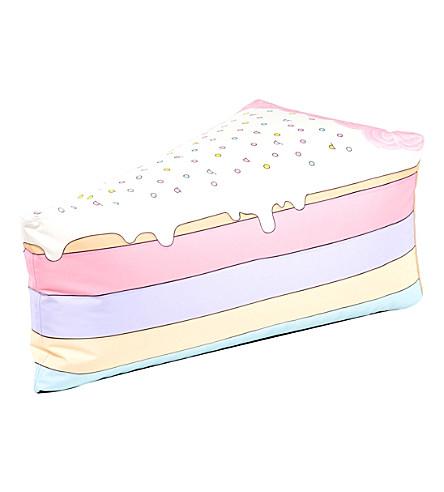 WOOUF Rainbow cake slice canvas bean bag