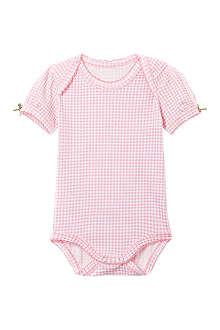 CLAESENS Pink gingham romper 3-18 months
