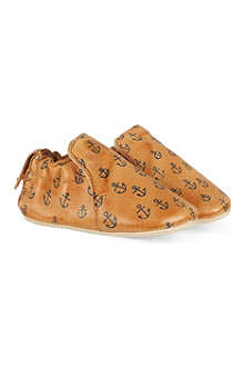 EASY PEASY Nautical print leather booties 0-18 months