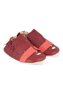 EASY PEASY Blublu Cachecache leather booties 0-18 months