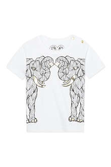 KAREN BROST Elephant placement print t-shirt 6 months - 4 years