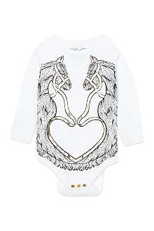 KAREN BROST White horse placement print bodysuit