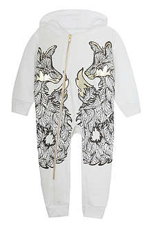 KAREN BROST Fox placement print onesie 0-18 months
