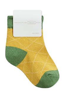 HANSEL FROM BASEL Mini pineapple crew socks 0 months – 2 years