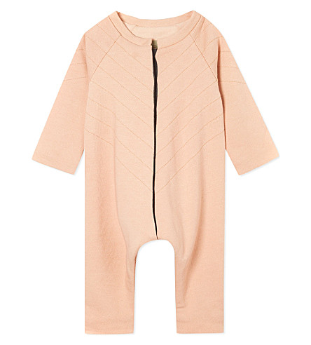 JUNGERA Moon cotton sleepsuit 3-12 months (Rose
