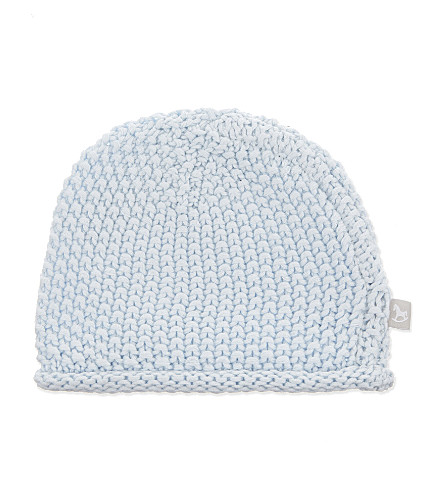 THE LITTLE TAILOR Bobble stitch hat 0-6 months (Blue