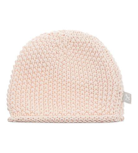 THE LITTLE TAILOR Bobble stitch hat 0-6 months (Pink