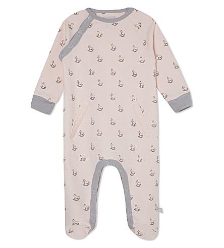 THE LITTLE TAILOR 摇摆马印平纹针织面料 babygrow 0-9 月 (粉红色