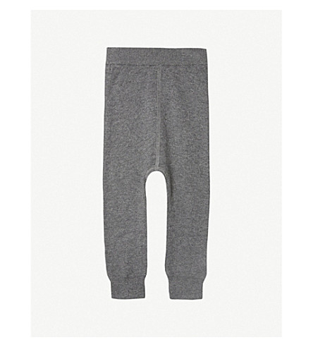 THE LITTLE TAILOR Knitted mix jogging bottoms 0-12 months (Charcoal