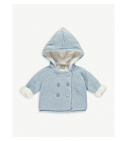 THE LITTLE TAILOR Knitted cotton pixie jacket 0-12 months (Blue