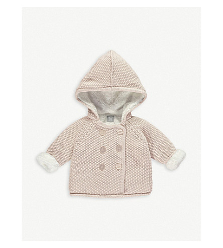 THE LITTLE TAILOR Knitted cotton pixie jacket 0-12 months (Pink