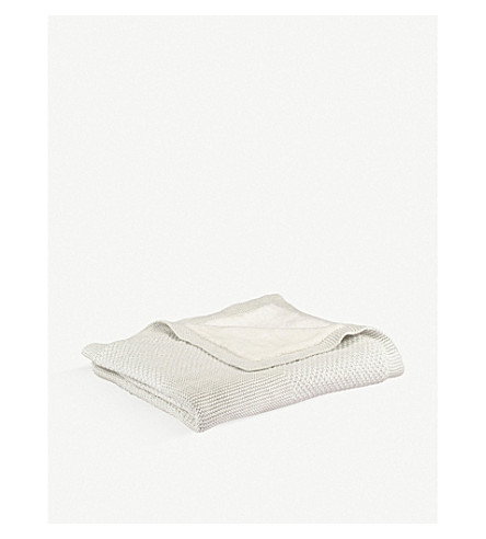 THE LITTLE TAILOR Lined blanket (Soft+grey