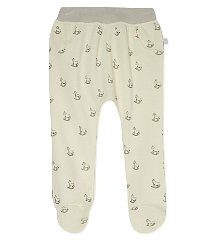 THE LITTLE TAILOR Rocking horse-print jersey trousers 0-9 months (Cream