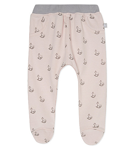 THE LITTLE TAILOR Rocking horse-print jersey trousers 0-9 months (Pink