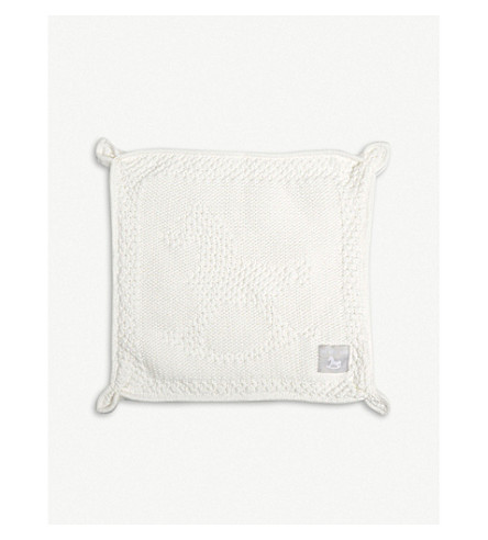 THE LITTLE TAILOR Rabbit blankie (Cream