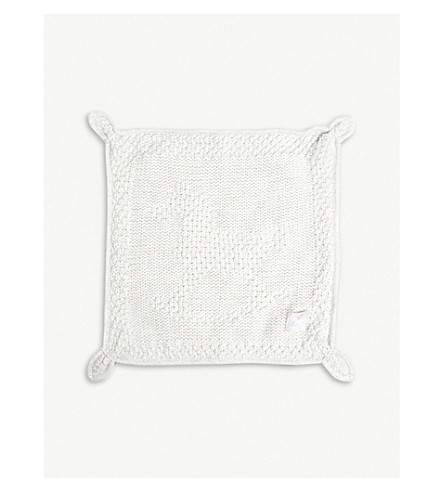 THE LITTLE TAILOR Rabbit blankie (Soft+grey