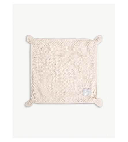 THE LITTLE TAILOR Knitted cotton blankie (Pink