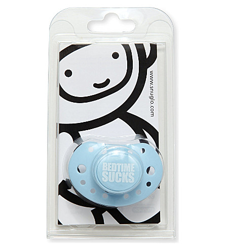 SNUGLO Bedtime sucks dummy (White+on+sky+blue
