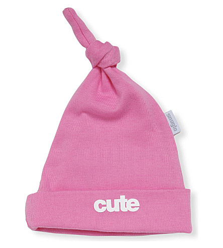 SNUGLO Cute hat 0-6 months (White+on+candy+pink