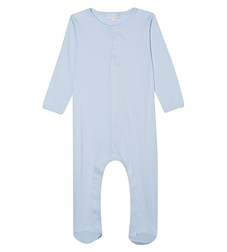 MAGNOLIA Cotton babygrow 3-12 months (Solid+light+blue