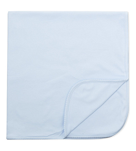 MAGNOLIA Pima cotton blanket (Solid+light+blue