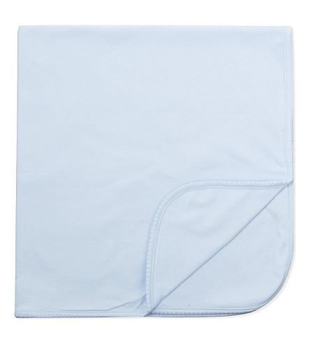 MAGNOLIA 皮棉毯 (实心 + 轻 + 蓝