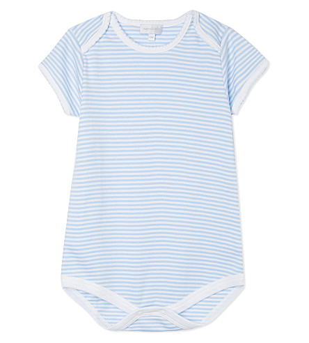 MAGNOLIA Striped baby-grow Newborn-12 months (Light+blue