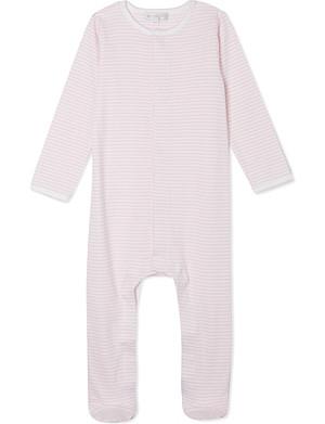 MAGNOLIA Football stripe sleepsuit newborn-12 months