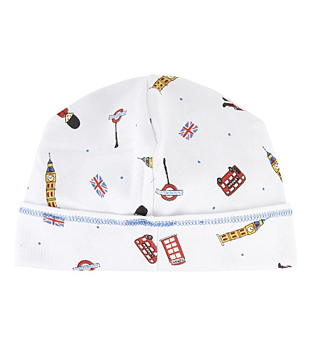 MAGNOLIA London print pima cotton hat 3-6 months (White/blue