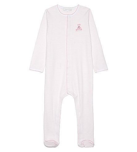 MAGNOLIA Teddy pima cotton baby-grow newborn-18 months (White pink