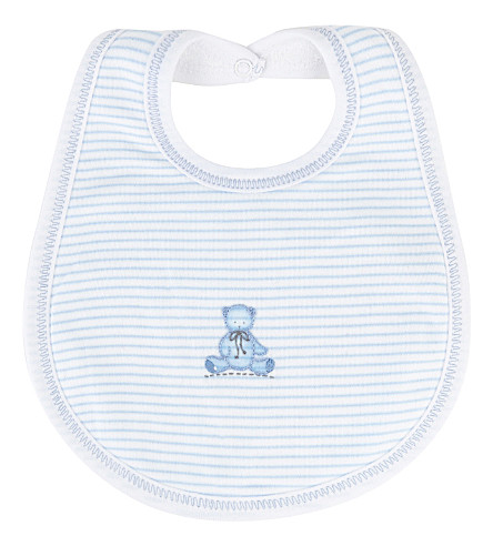 MAGNOLIA Teddy pima cotton bib (White/blue