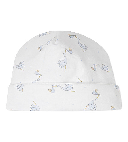 MAGNOLIA Printed hat 3-6 months (Light+blue