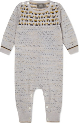 Knitting Pattern For Baby Grow Bag : KIDS CASE - Charlie knitted baby-grow 1-6 months Selfridges.com