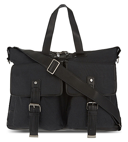 TIBA & MARL James satchel changing bag (Black
