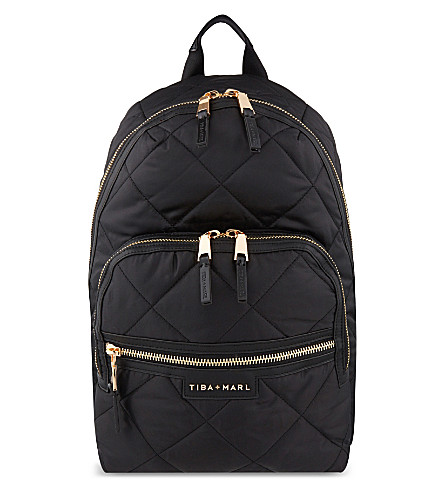 TIBA + MARL Elwood quilted backpack (Black+quilt