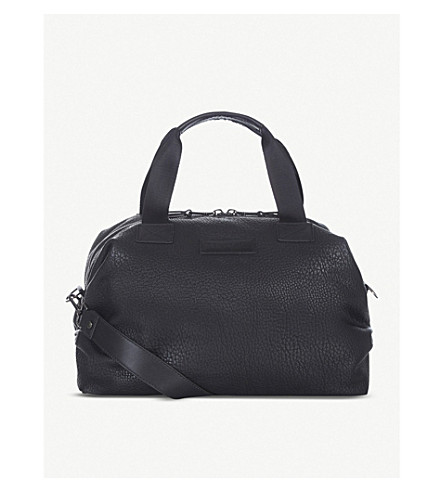 TIBA & MARL RAF mini faux-leather holdall (Black