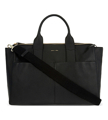 JEM + BEA Jemima leather changing bag (Black
