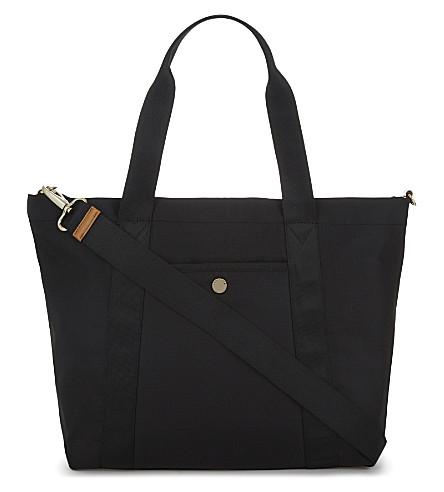 JEM + BEA Lolo nylon changing bag tote (Black