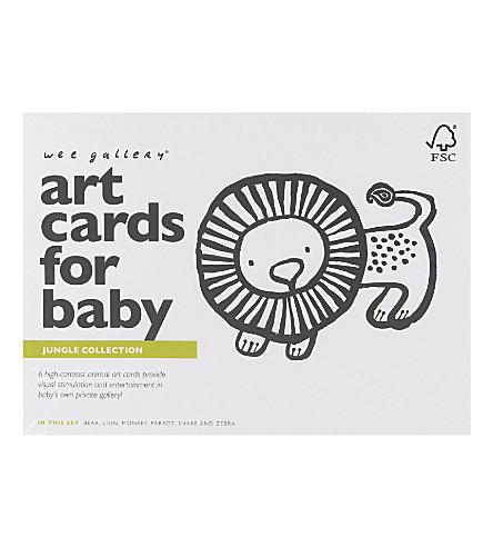 WEE GALLERY 丛林艺术卡片为婴儿设置六