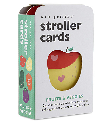 WEE GALLERY Fruits and veggies stroller cards