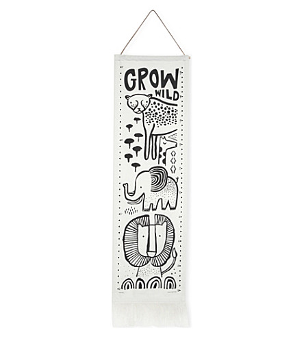 WEE GALLERY Safari organic cotton growth chart