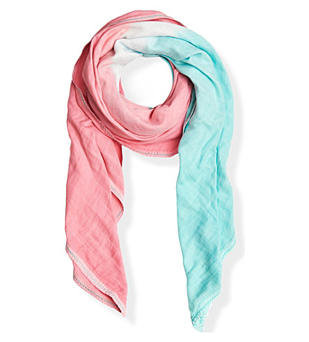 MARLOE LONDON LGC limited edition Coral muslin scarf (Coral