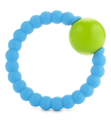 NIBBLING Teething rattle ring toy