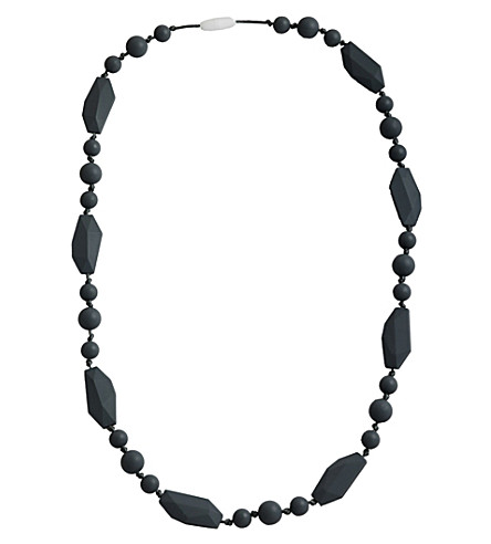 NIBBLING Greenwich silicone teething necklace (Black