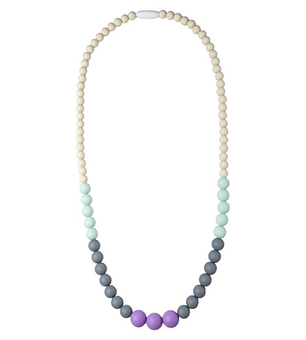 NIBBLING Kew silicone teething necklace (Sorbet