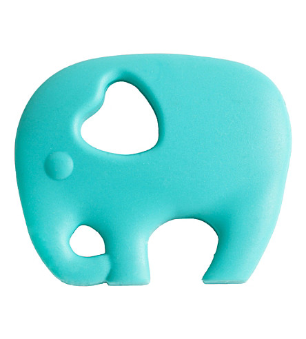 NIBBLING Elephant teething toy (Turquoise